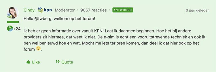 Reactie KPN over eSIM (2)